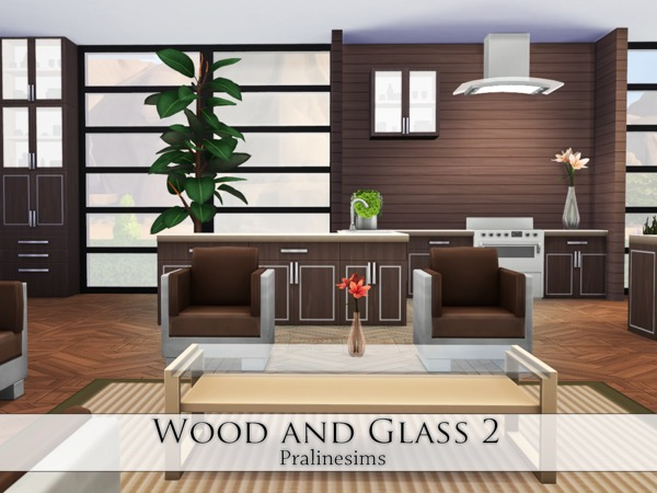 Wood and Glass 2 house by Pralinesims at TSR image 1213 Sims 4 Updates