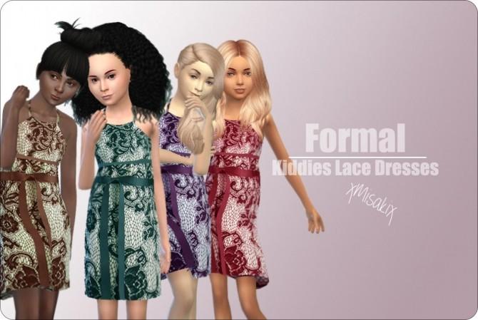 Sims 4 Kiddies Lace Dresses at xMisakix Sims