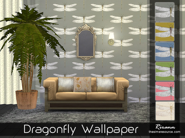 Sims 4 Dragonfly Wallpaper by Rirann at TSR