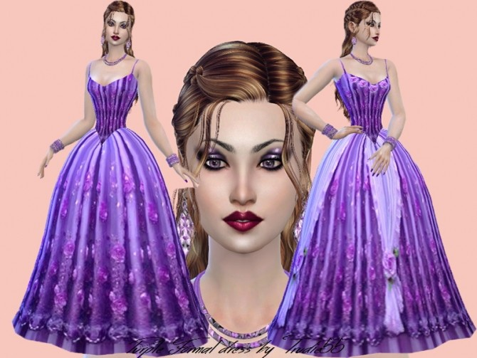 Purple Formal dress at Trudie55 image 1234 670x503 Sims 4 Updates