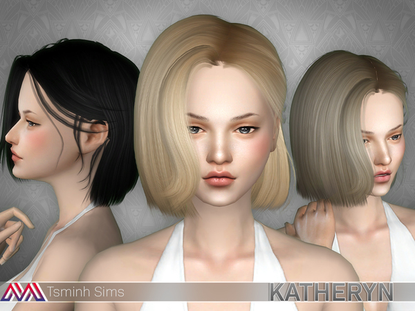 Katheryn Hair 19 Set by TsminhSims at TSR image 1235 Sims 4 Updates