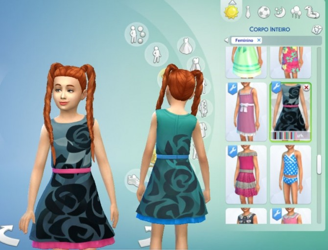 Dress Boat Neck for Girls by Kiara Zurk at My Stuff image 12410 670x511 Sims 4 Updates