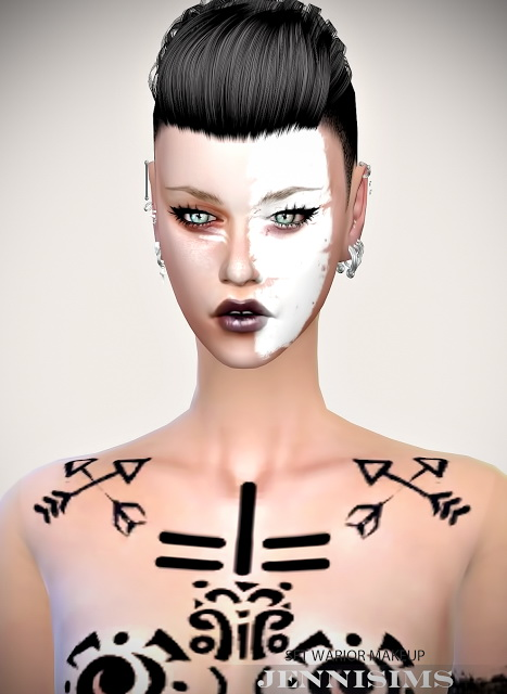 Sims 4 Warior EyeShadows (15 Swatches) M/F at Jenni Sims