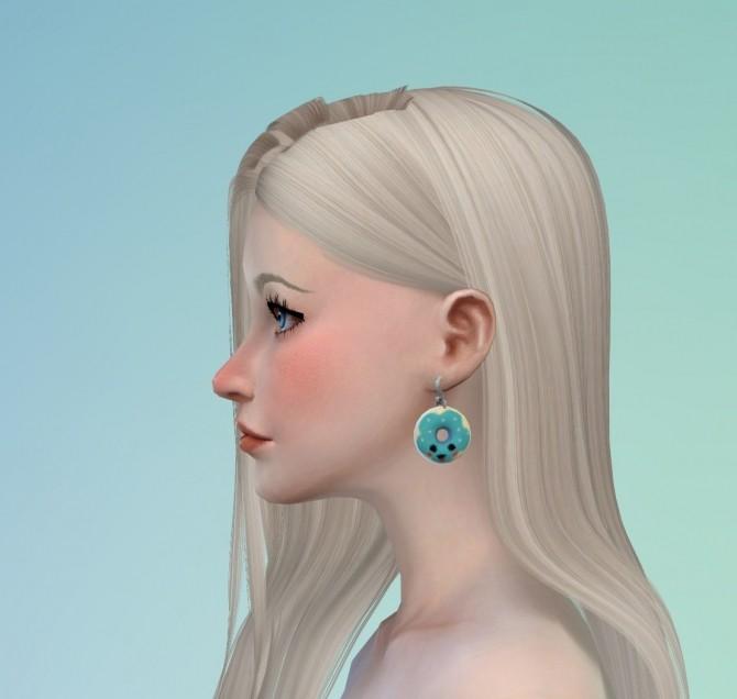 Sims 4 Donut Earrings at Darkiie Sims4