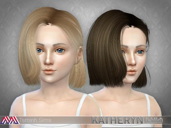 Katheryn Hair 19 Set by TsminhSims at TSR image 1247 Sims 4 Updates