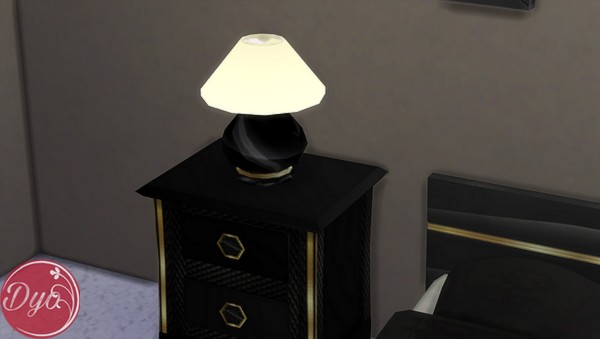 Sims 4 Black and gold bedroom by Dyokabb at Les Sims4