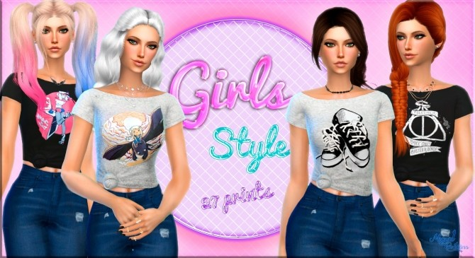 Girls Style top at Victor Miguel image 1269 670x365 Sims 4 Updates