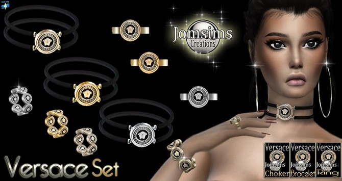 Bracelet, choker and ring at Jomsims Creations image 12810 670x355 Sims 4 Updates