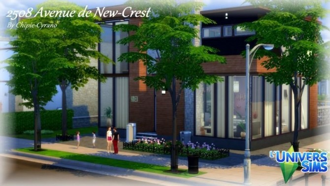 Sims 4 2508 Avenue de New Crest house by chipie cyrano at L'UniverSims