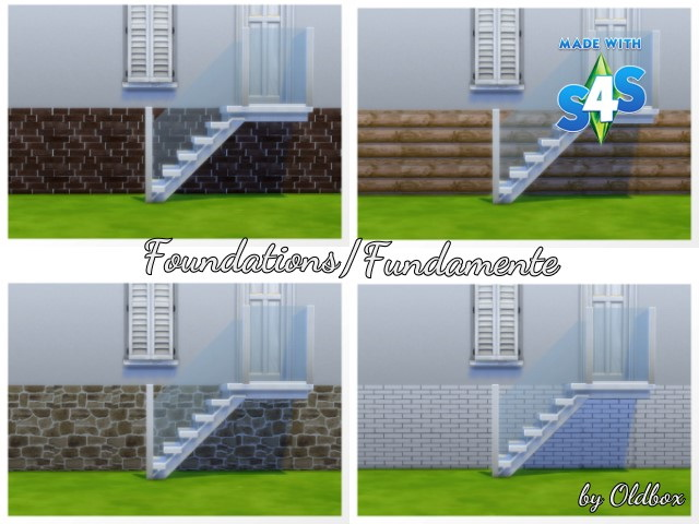 8 foundation recolors by Oldbox at All 4 Sims image 1305 Sims 4 Updates