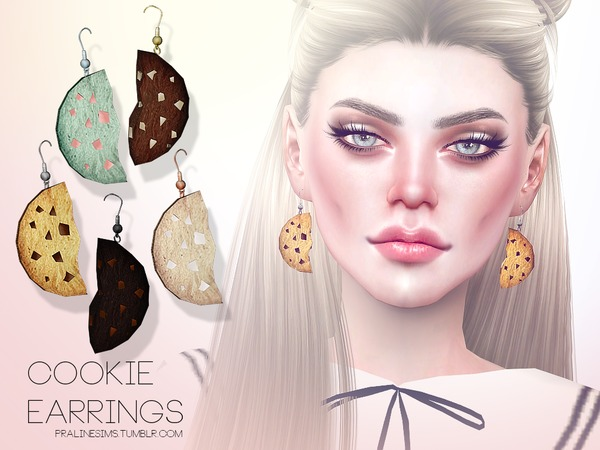 Sims 4 Cookie Earrings by Pralinesims at TSR