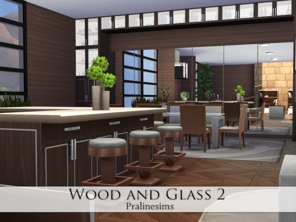 Wood and Glass 2 house by Pralinesims at TSR image 1314 Sims 4 Updates