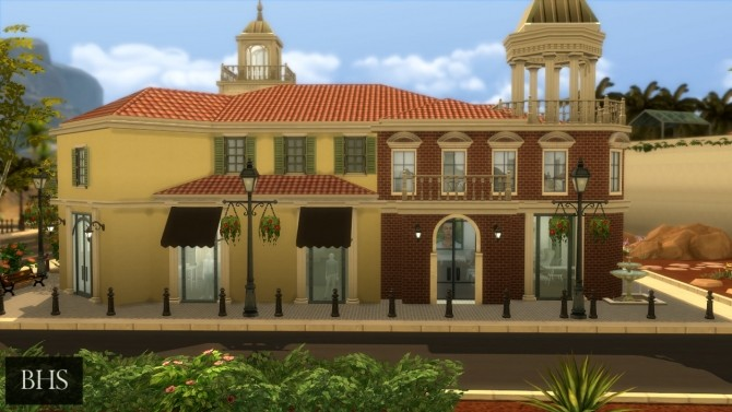 Sims 4 The Calabasas Commons at Beverly Hills Sims