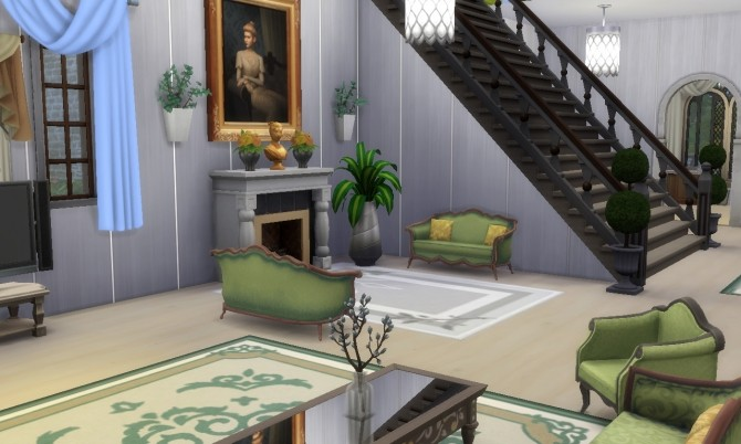 Sims 4 Luxury Mansion NO CC at Tatyana Name