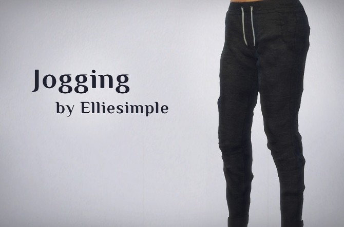 Sims 4 Jogging pants at Elliesimple