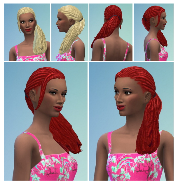 Sims 4 Dreads by Side at Birksches Sims Blog