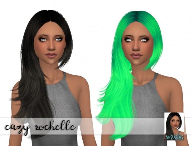 Sims 4 Cazy Rochelle hair retextures at Nessa Sims