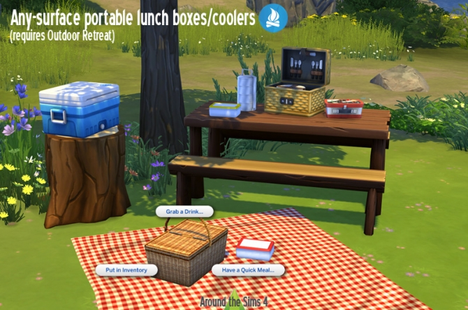 Lunch Boxes Amp Cooler By Sandy At Around The Sims 4 187 Sims