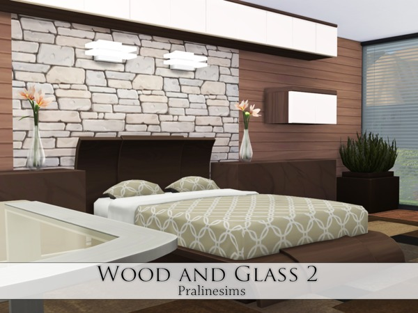 Wood and Glass 2 house by Pralinesims at TSR image 1414 Sims 4 Updates