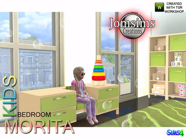 Sims 4 Morita Kids bedroom by jomsims at TSR