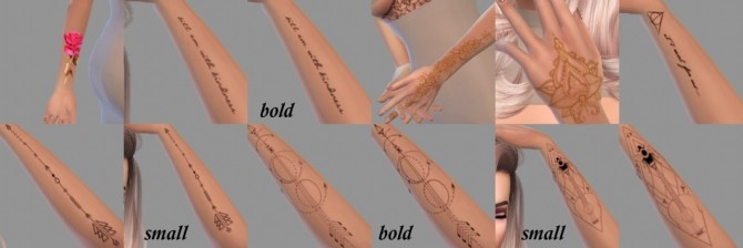 Sims 4 Few random tattoos for left hand at JFC Sims