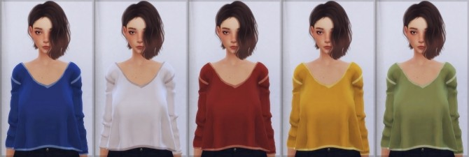 Sims 4 Chisamis Tracy mid top converted at Elliesimple