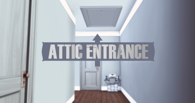 Attic Entrance Door At Onyx Sims 187 Sims 4 Updates