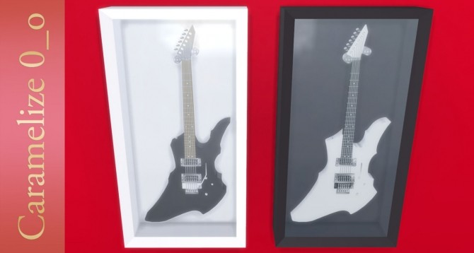 Electric Guitar Display Case At Caramelize 187 Sims 4 Updates
