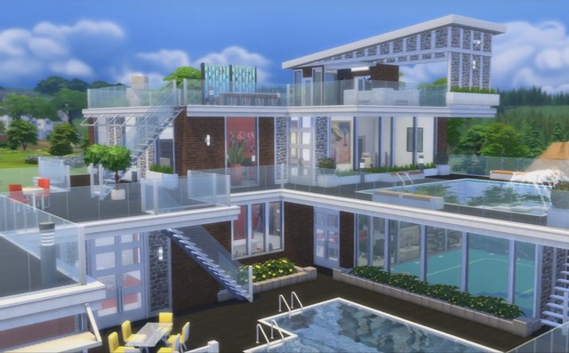 Luxus pool house by blackbeauty583 at beauty sims sims 4 for Pool designs sims 4
