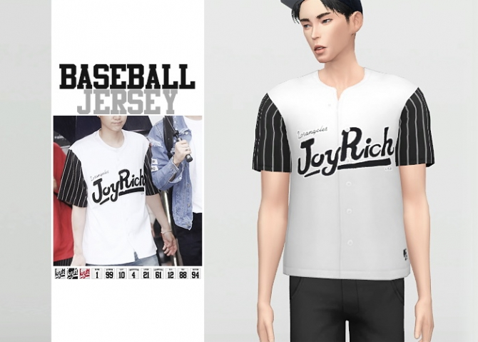 Baseball Jersey At Waekey 187 Sims 4 Updates