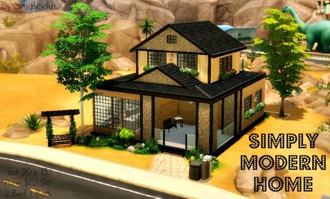 Sims 4 Simply Modern Home at Simelicious