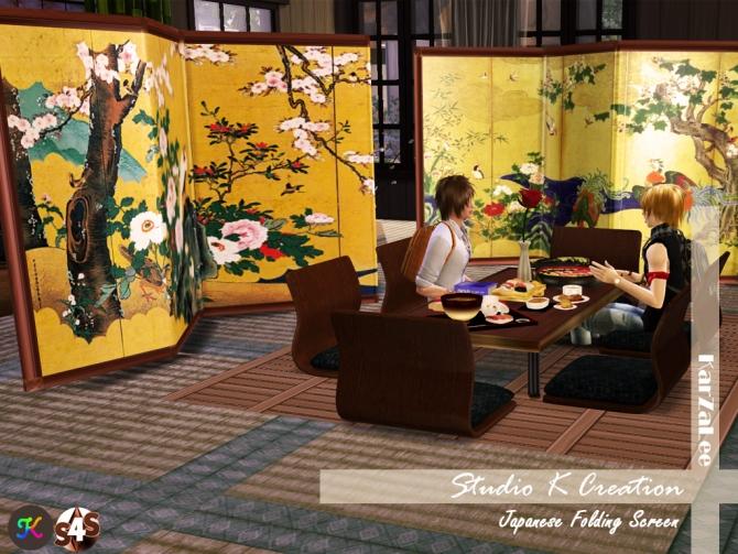 Japanese Folding Screen At Studio K Creation 187 Sims 4 Updates