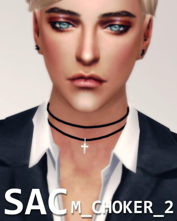 Male choker 02 at SAC » Sims 4 Updates