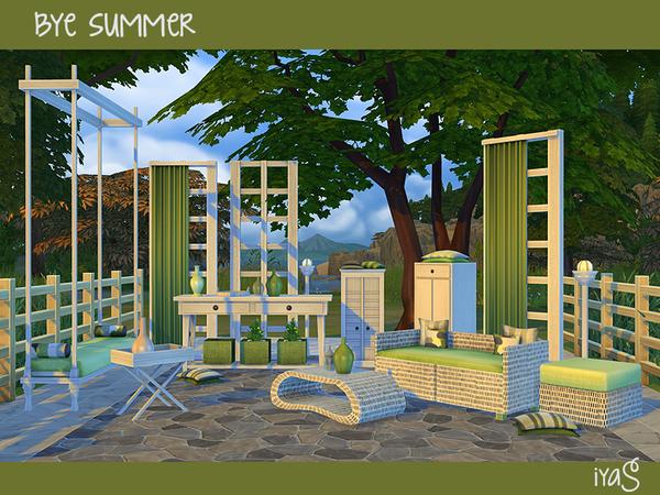 Sims 4 Bye Summer set by soloriya at TSR