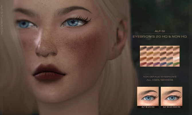 Eyebrows 20 21 Hq Amp Non Hq At Alf Si 187 Sims 4 Updates