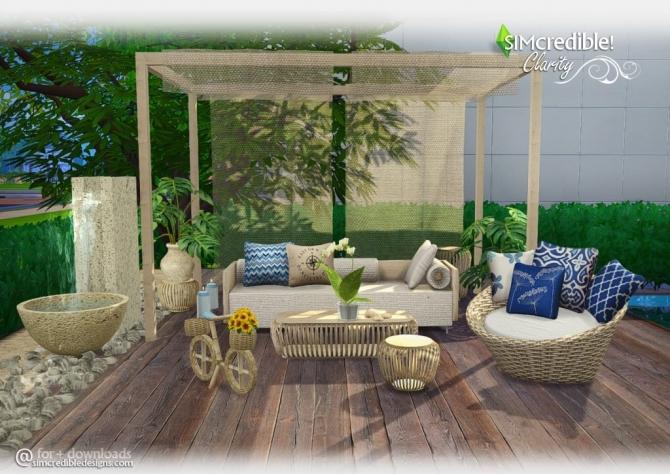 Clarity Garden Set At Simcredible Designs 4 187 Sims 4 Updates