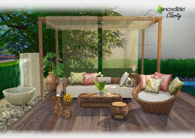 Clarity Garden Set At Simcredible Designs 4 187 Sims 4 Updates