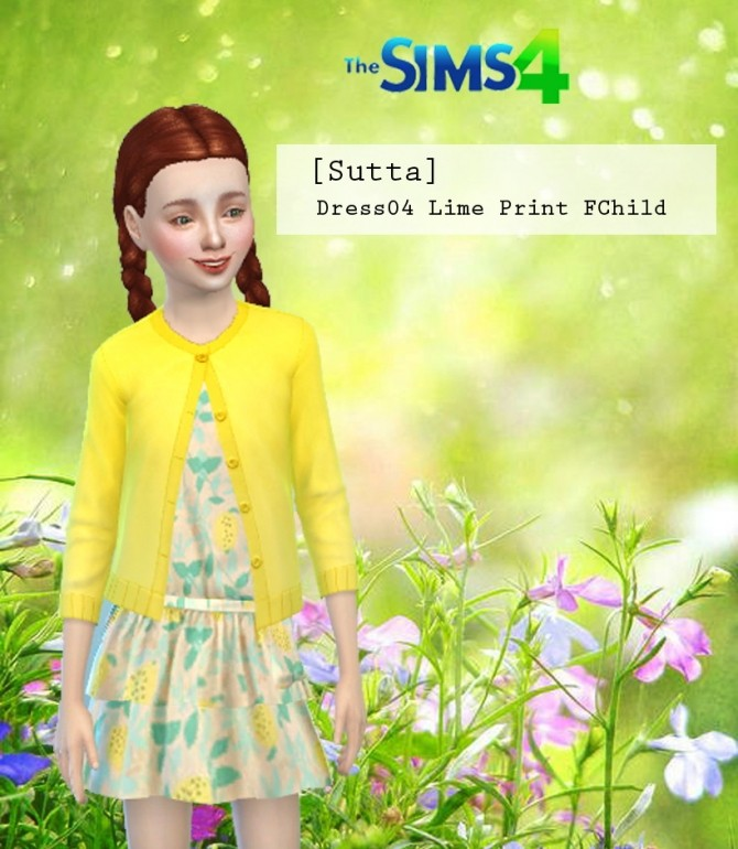 Dress 04 Lime Print Child at Sutta Sims4 image 1543 670x770 Sims 4 Updates