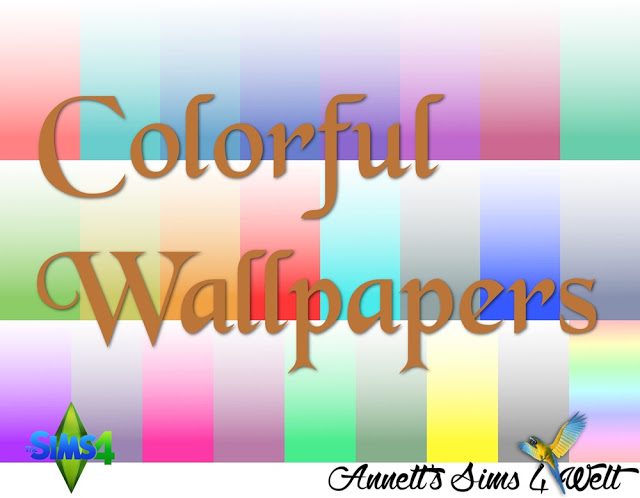 Sims 4 Colorful Wallpapers at Annett's Sims 4 Welt