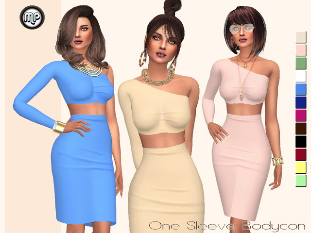MP One Side Sleeve Bodycon at BTB Sims – MartyP image 1547 Sims 4 Updates