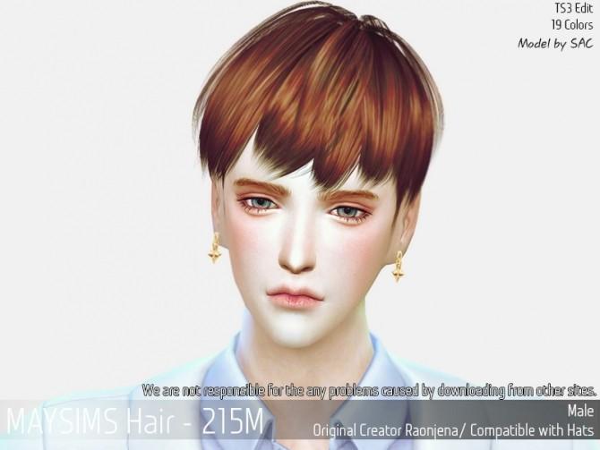 Hair 215M (Raonjena) at May Sims image 1549 670x503 Sims 4 Updates