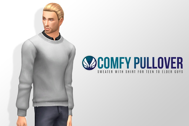 Sims 4 Comfy Pullover Sweater at Simsational Designs