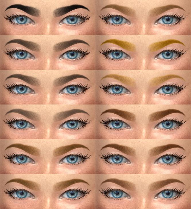Sims 4 Eyebrows 20, 21 HQ & non HQ at Alf si