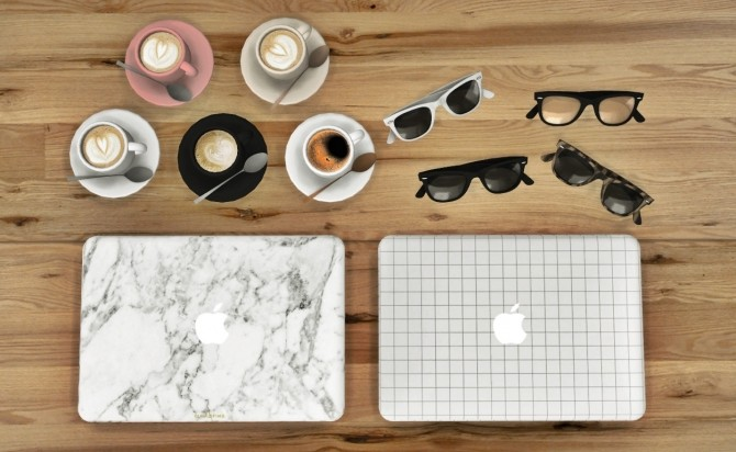 Coffee Cup + Sunglasses + Macbook Pro Closed Recolors at MXIMS image 1587 670x412 Sims 4 Updates