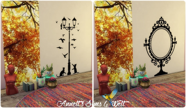 Furniture & Lamps Wall Deco at Annett's Sims 4 Welt image 1594 Sims 4 Updates