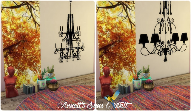 Furniture & Lamps Wall Deco at Annett's Sims 4 Welt image 1605 Sims 4 Updates