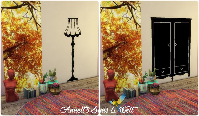 Furniture & Lamps Wall Deco at Annett's Sims 4 Welt image 16110 Sims 4 Updates
