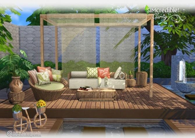 Clarity garden set at simcredible designs 4 sims 4 updates for Garden design sims 4