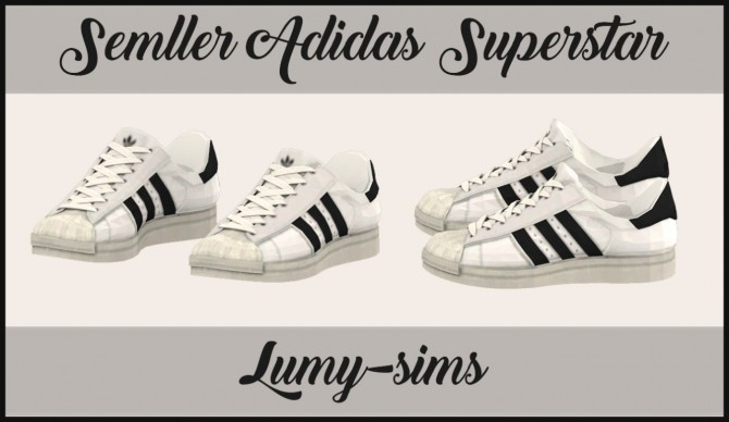 Semller's Superstar sneakers conversion at Lumy Sims » Sims