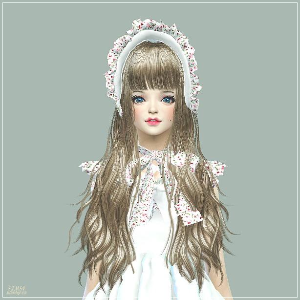 Sims 4 Frill Bonnet at Marigold